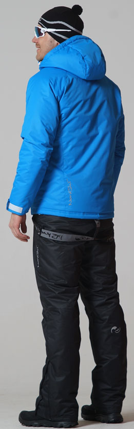 NSM422170 Утеплённый прогулочный лыжный костюм Motion Blue-Black  - SkiRunner.ru