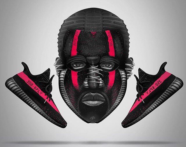 Adidas Yeezy Boost 350 V2 Men's Black & Red