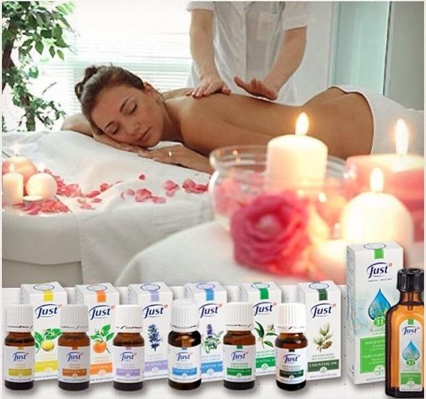 массаж с маслом