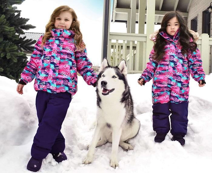 Зимний комбинезон для девочек Premont Северное сияние Юкона Sport