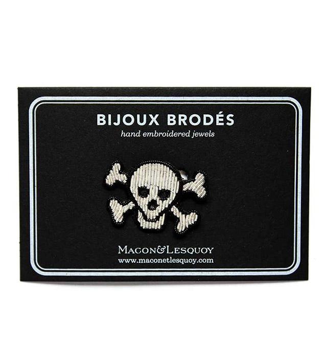 стильная брошь, расшитая вручную от французского бренда Macon&Lesquoy - Pirate