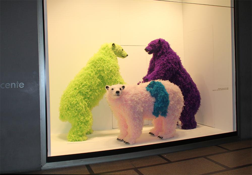медведи из пенопласта