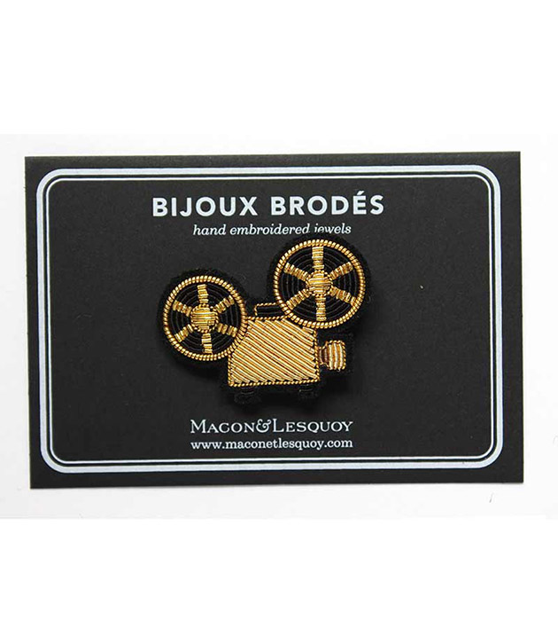 эффектная брошь ручной работы от  Macon&Lesquoy - Projector Gold