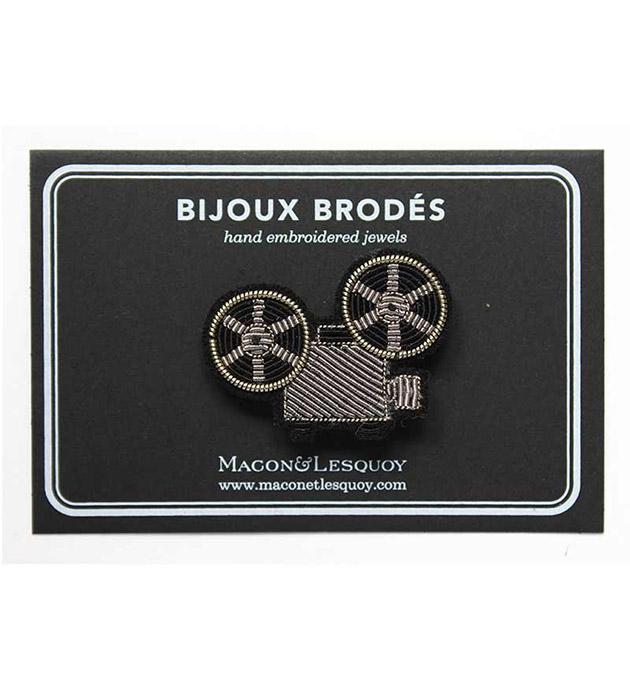 стильная брошь ручной работы от  Macon&Lesquoy - Projector Silver