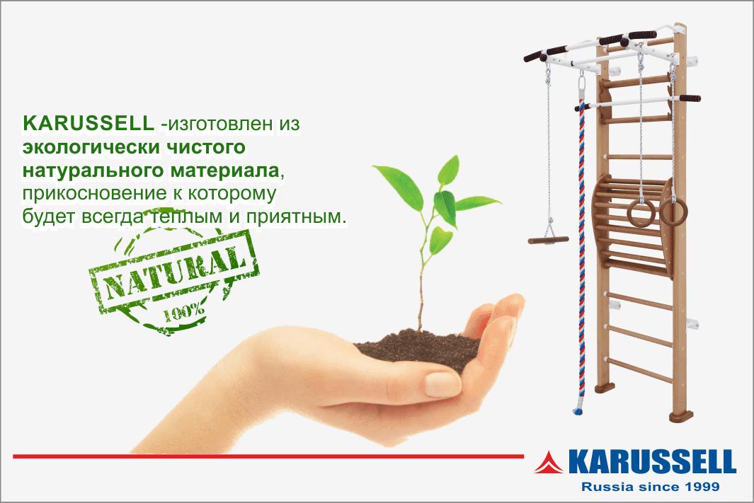Шведская стенка Karussell  из дерева купить в Москве