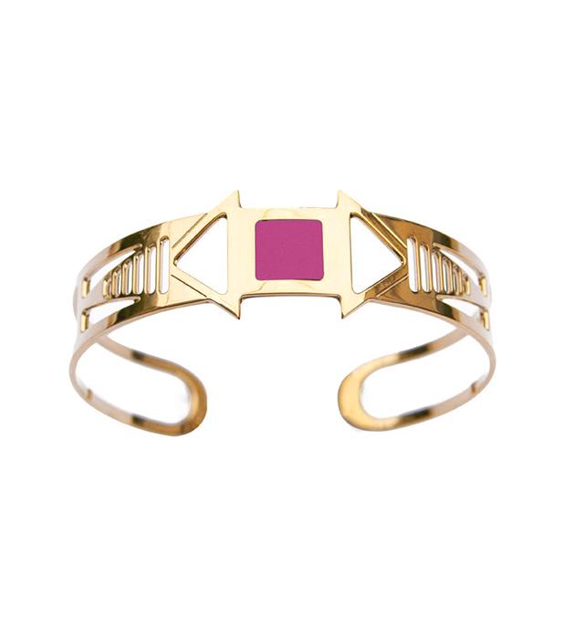 купите эффектный браслет-манжет с розовой эмалью Louxor rose от Chic Alors-Paris