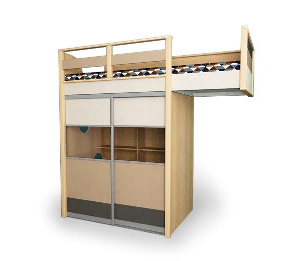 кровать из массива для школьника