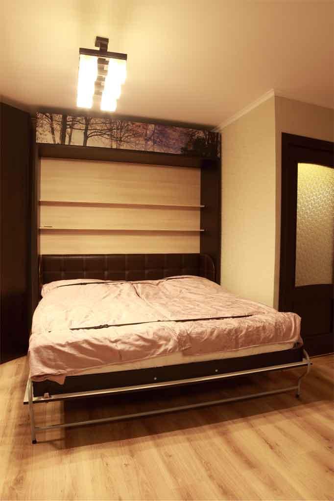 Шкаф-кровать 180х200, задняя стенка с полками