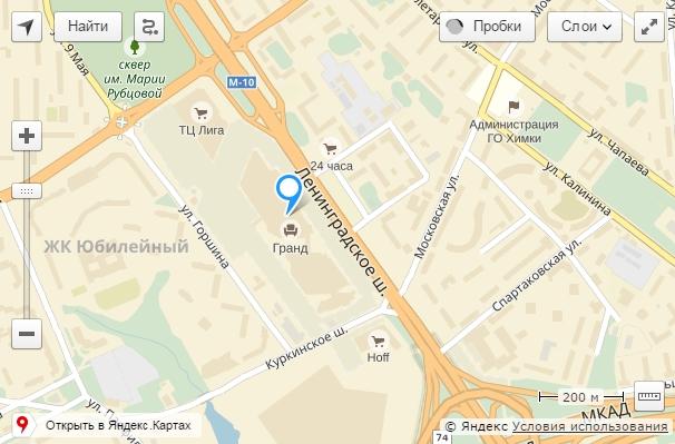 МТК Гранд на Яндекс Картах