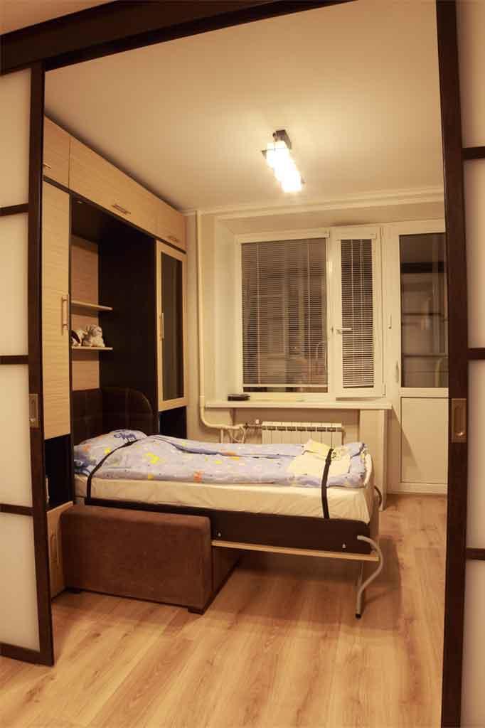 Комфортная и безопасная шкаф-кровать<br />с диваном