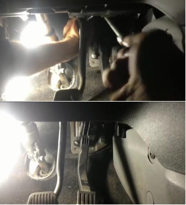 Чем снять педаль газа на Форде