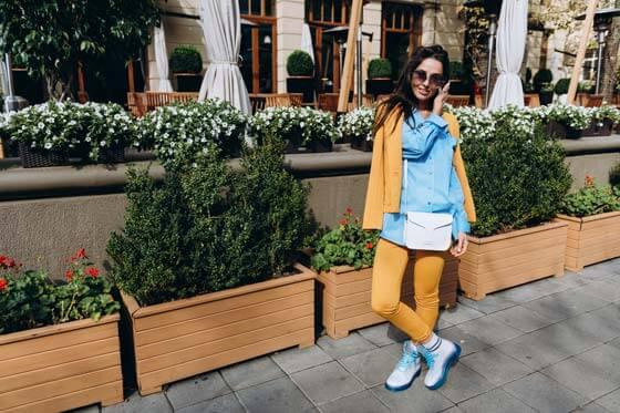 Прозрачные ботинки invisible-shoes с синей подошвой