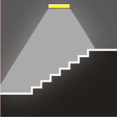 Аварийное освещение гостиниц на лестничных маршах