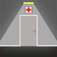 Аварийное освещение отелей перед пунктом медицинской помощи, в местах размещения плана эвакуации