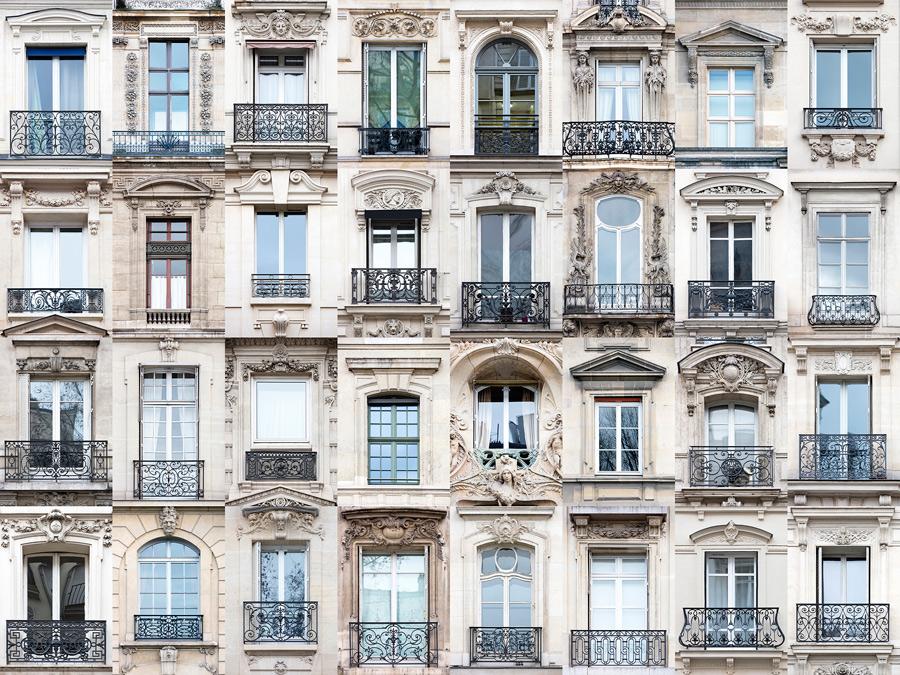 Париж отделка окон снаружи.