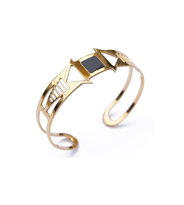 купите браслет-манжет с чёрной эмалью Louxor noir от Chic Alors-Paris