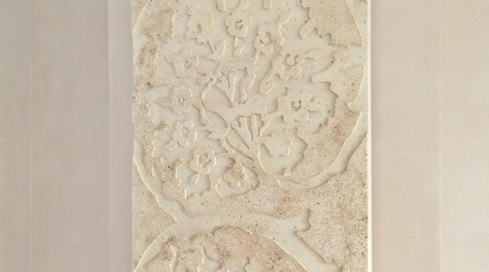 Фрагмент радиатора из бетона. (отливка в пенопластовую форму)