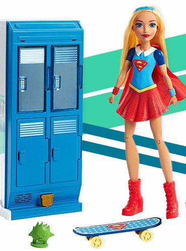 Игровой набор кукла Супергерл с аксессуарами супергероини