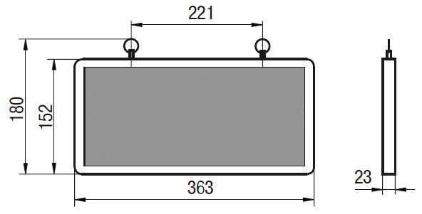 Технический чертеж аварийного светильника ССА 1003