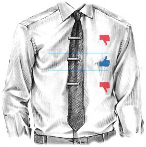 Куда крепить зажим для галстука
