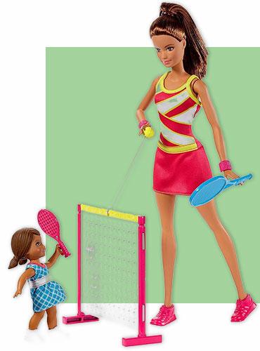Игровой набор Кукла Барби серия Карьера с аксессуарами для тенниса