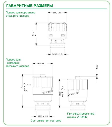 Размеры привода Schneider Electric MP140NO-230T