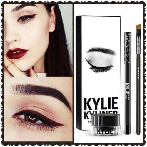 Гелевая подводка + карандаш + кисть Kylie Cosmetics Kyliner Kit Black оптом