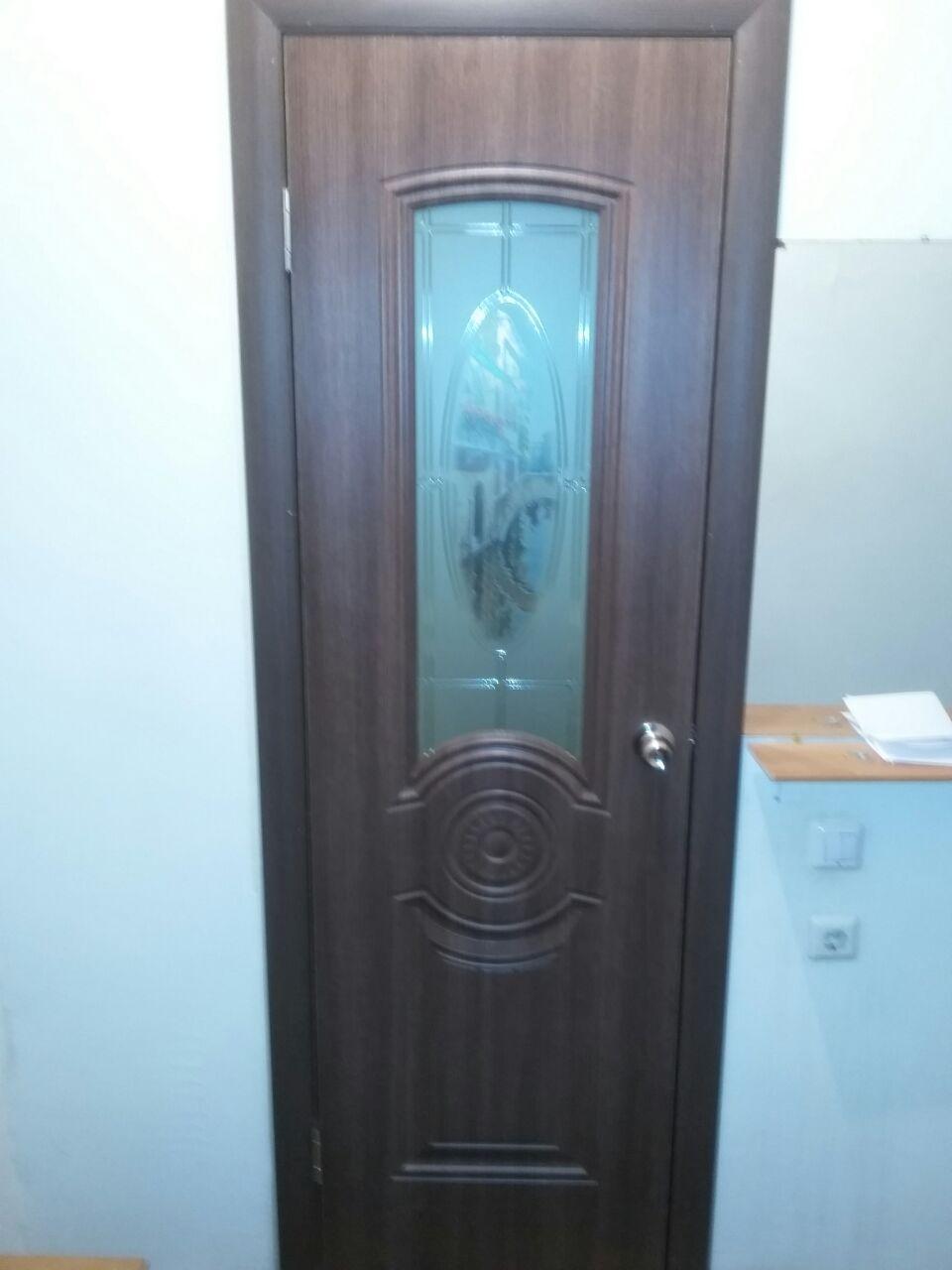 Дверь AIRON Венеция, стекло художественное, цвет тёмный дуб, остекленная