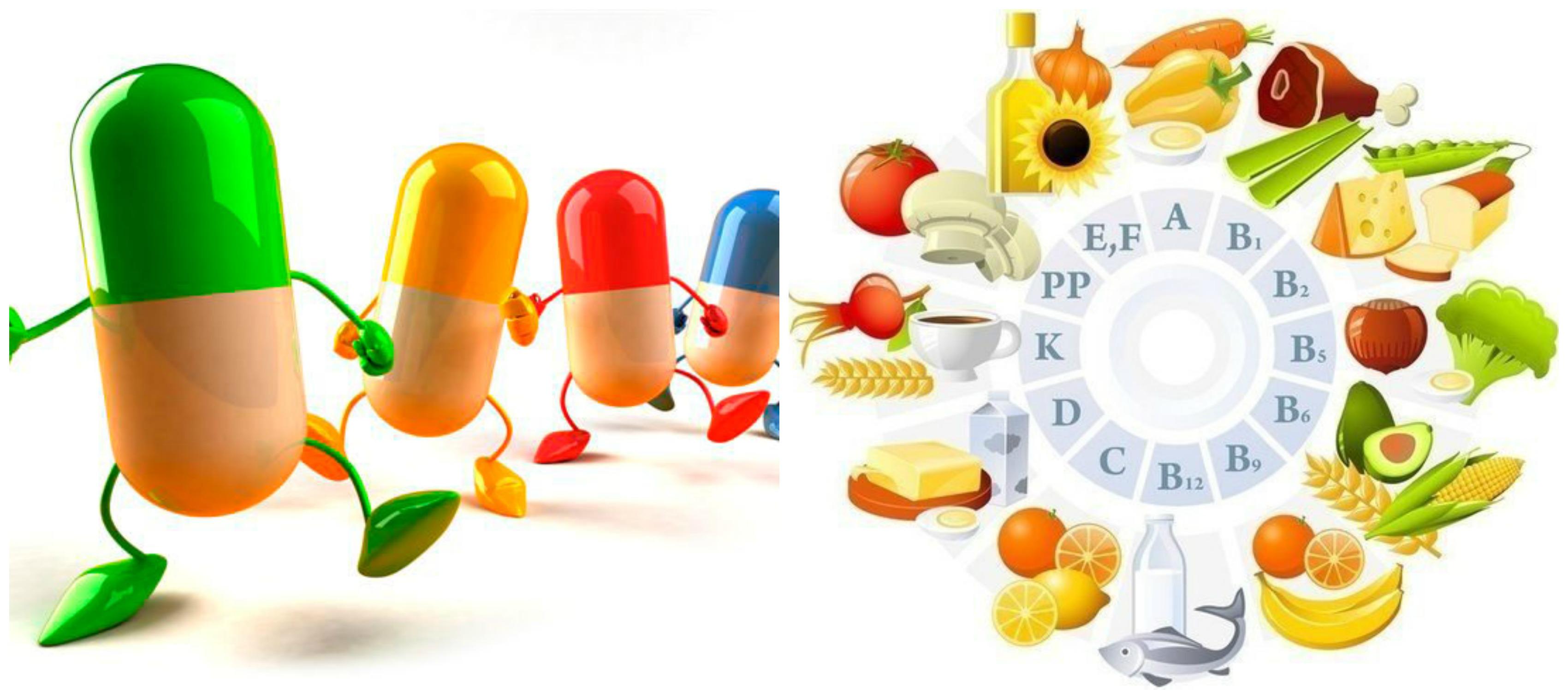 Витамины для человека в картинках