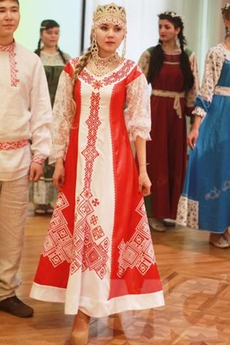 48f27ff2ee8c75 Купить современное платье в русском стиле
