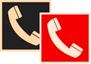 фотолюминесцентные знаки пожарной безопасности F05 Телефон для использования при пожаре