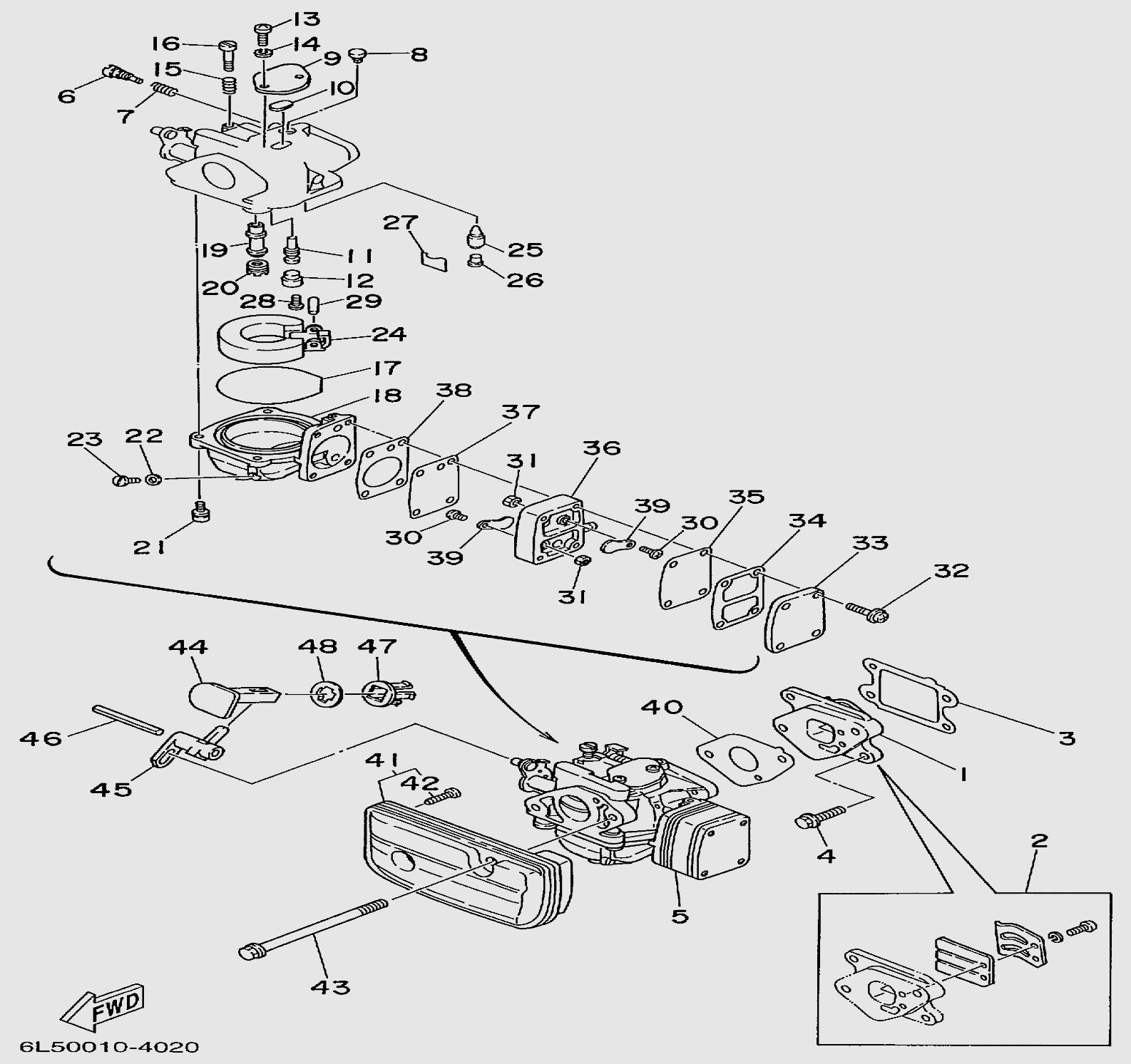 Детали карбюратора для лодочного мотора T3S SEA-PRO