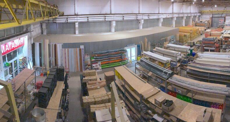 Склад стройматериалов в Заокском