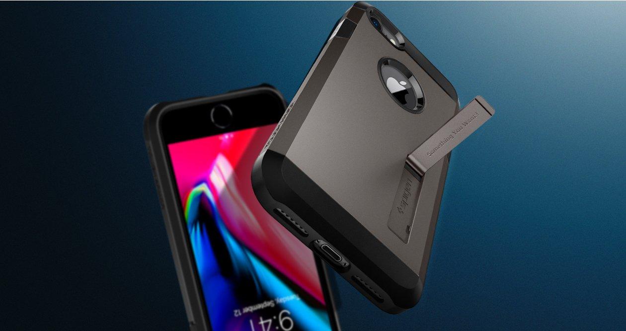 Противоударнаянакладка Case Tough Armor Sgp Spigen для iPhone 8.