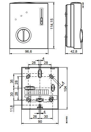Размеры Siemens RCC30