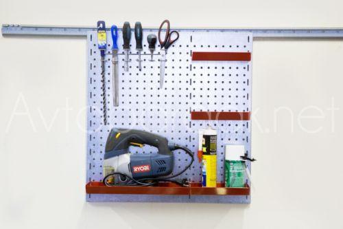 Металлическая перфорированая панель для инструментов