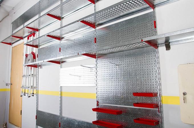 металлические полки для гаража мастерской и кладовой (3)