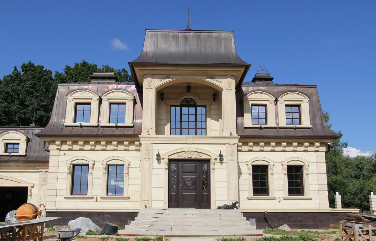 Облицовка фасада архикамнем