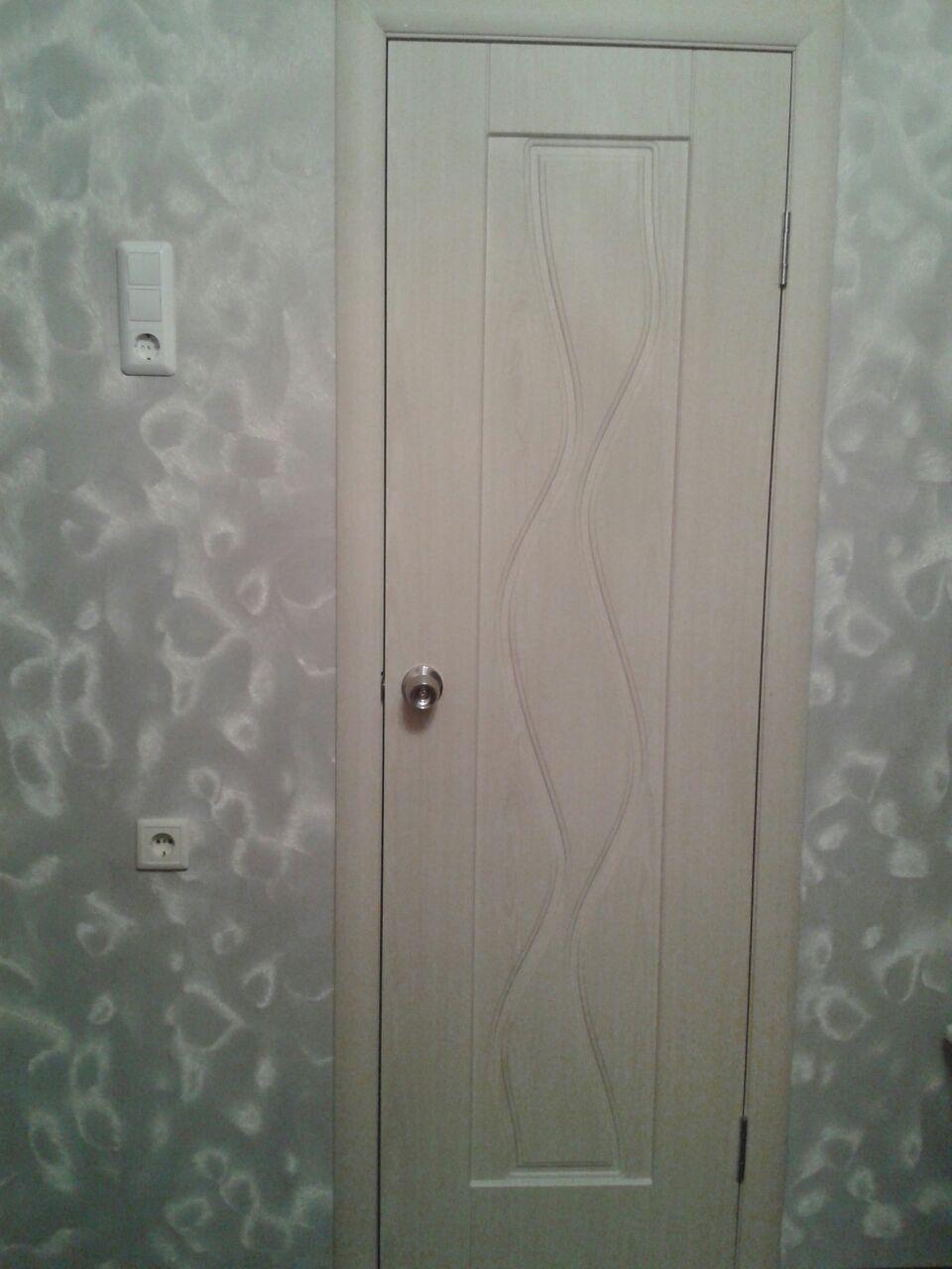 Дверь Сибирь Профиль Водопад цвет беленый дуб глухая