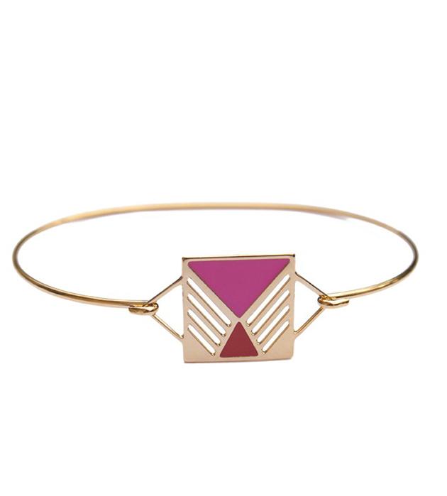 купите золотистый браслет в стиле арт-деко Rufus rouge&rose от Chic Alors-Paris