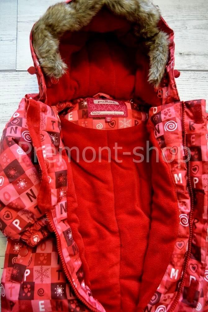 Флис на комбинезоне Premont Красные льдинки
