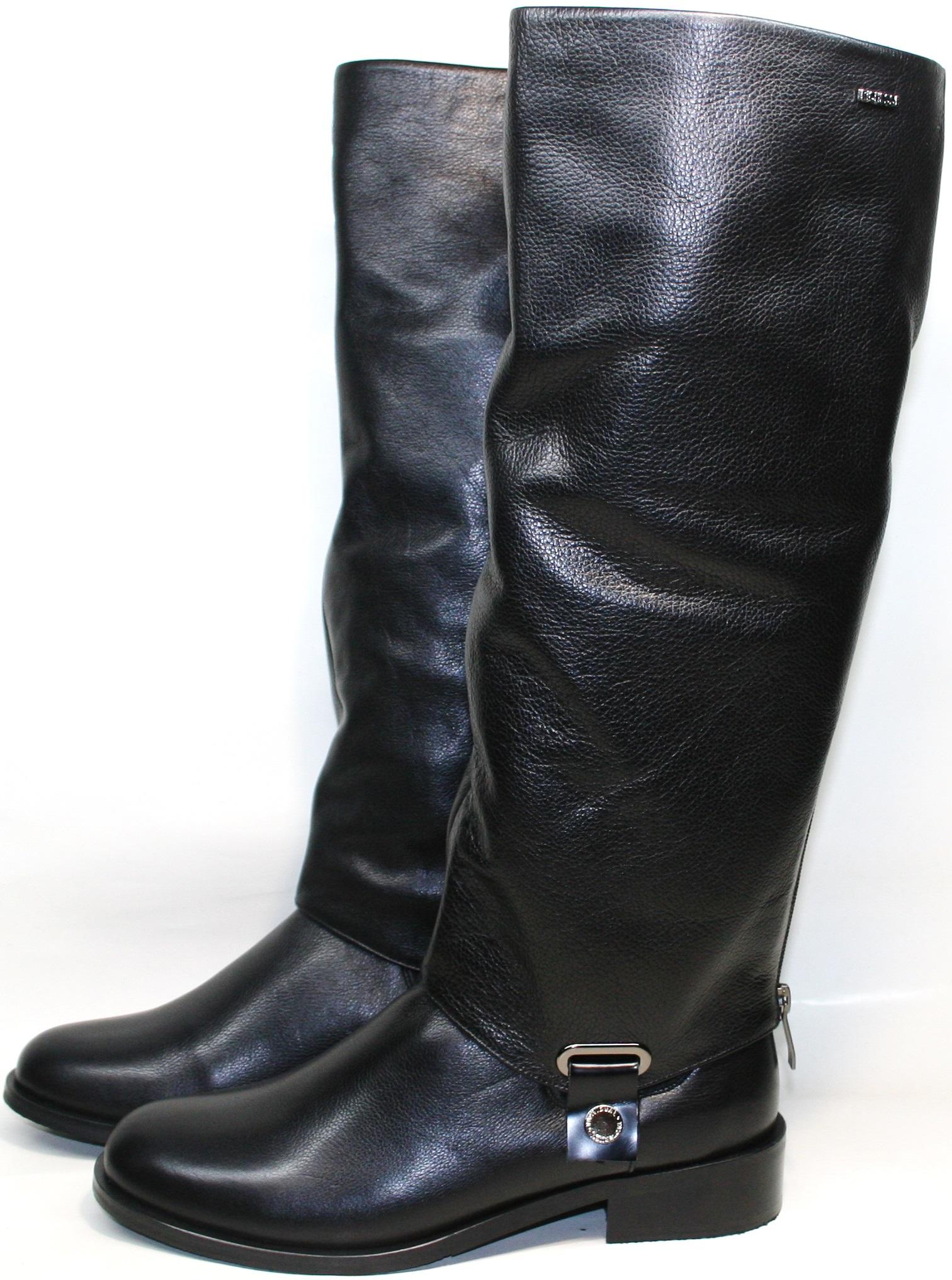 Черные зимние ботинки сапоги Richesse R-458