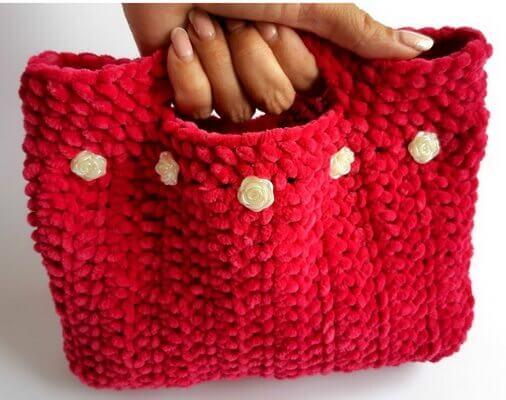 Мягкая сумка Из пряжи Пуффи
