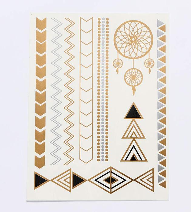 купите необычный набор переводных флэш-татуировок Get Glam от Miami Tattoos