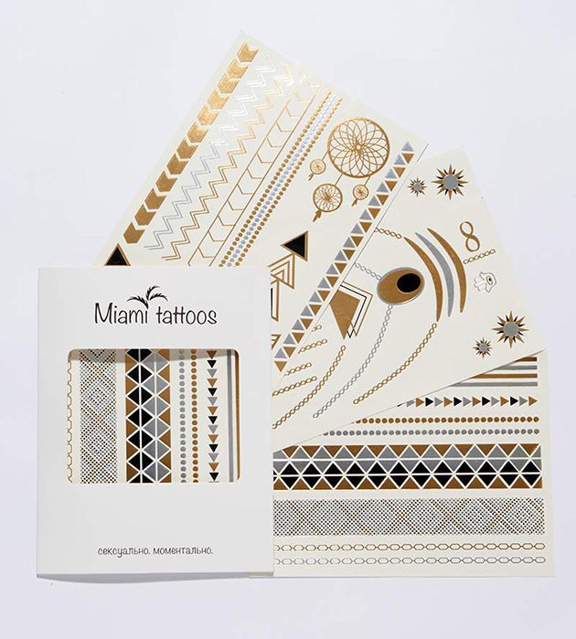купите комплект необычных флэш-татуировок от Miami Tattoos - Get Glam