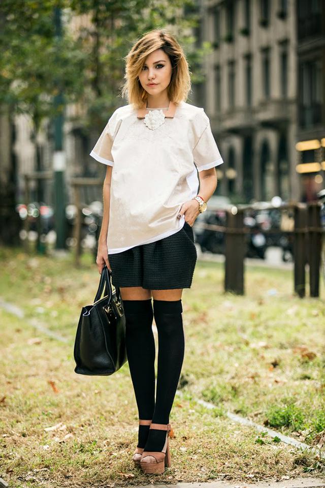 fashion-блоггер Софи Елисеева @sophiesavenue на Миланской неделе моды