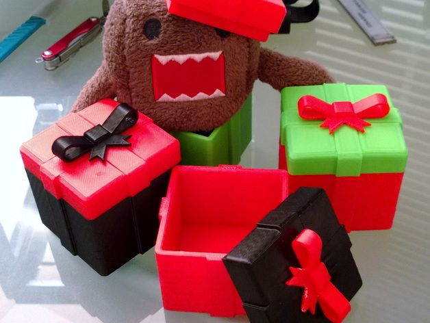 Модель шкатулки для подарка для 3D принтера