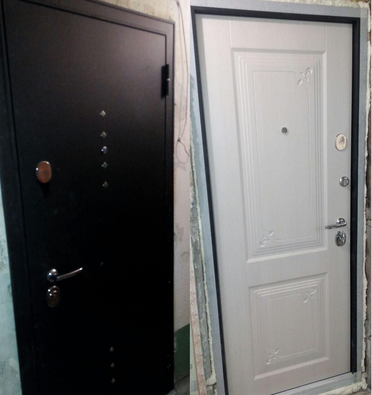 Дверь входная Бульдорс Бульдорс-15, 2 замка, 1,5 мм металл, (чёрный шёлк+беленый дуб)