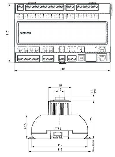Размеры Siemens POL638.70/DH1
