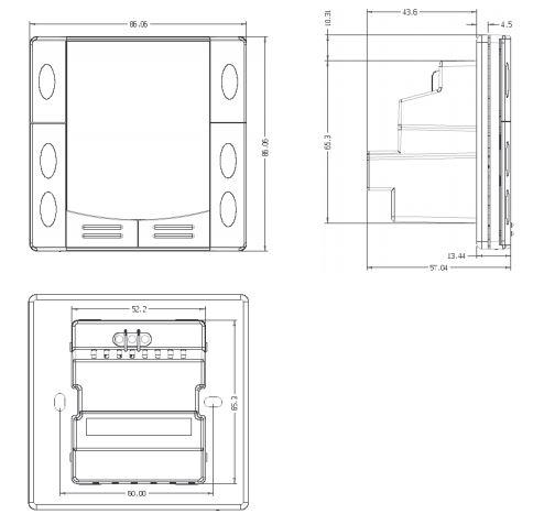 Размеры Siemens RDF300.02